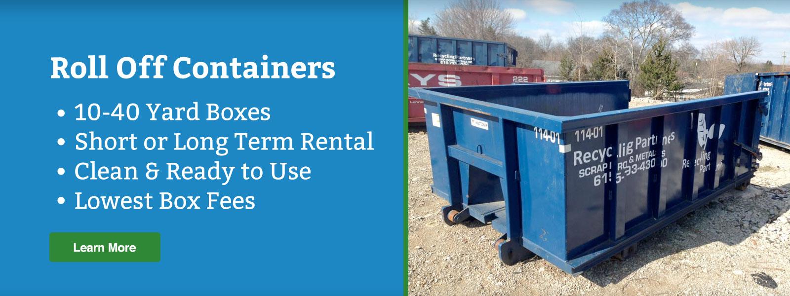 roll off dumpster rentals nashville tn