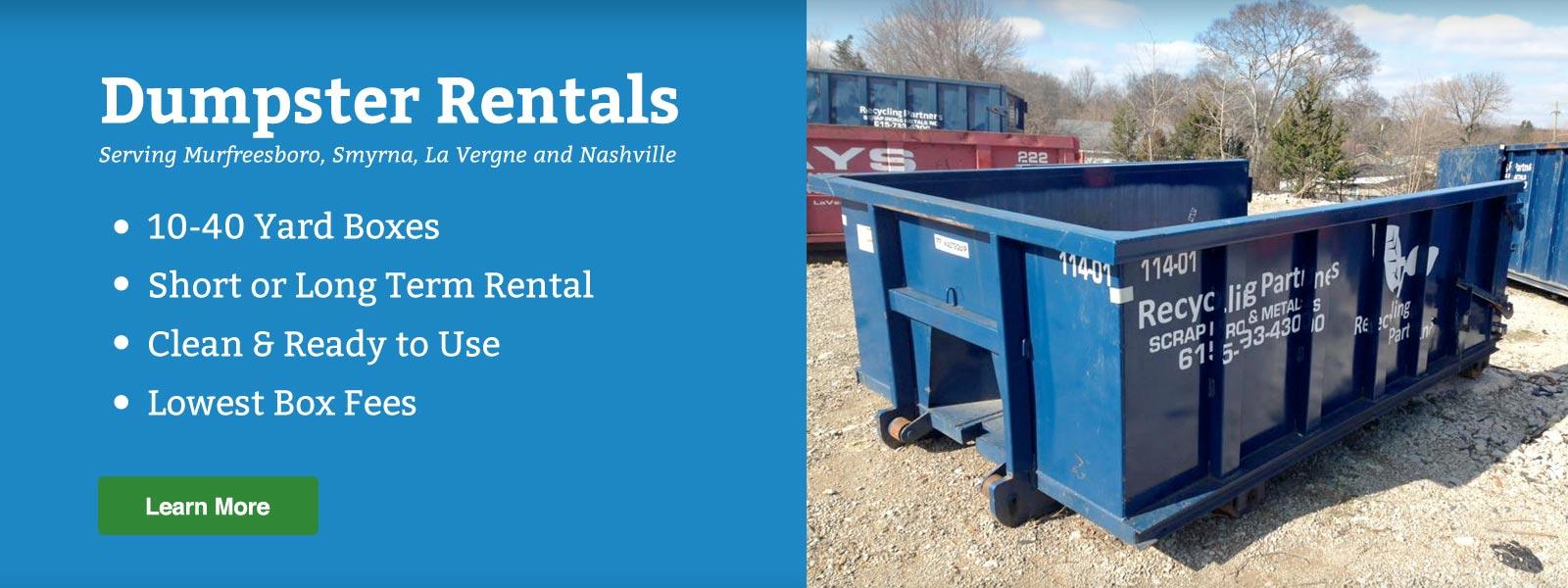 dumpster rental murfreesboro nashville